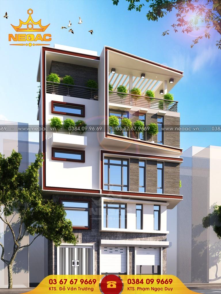 thiết kế nhà phố 5 tầng