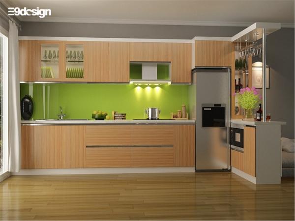 mẫu thiết kế tủ bếp nhà cấp 4