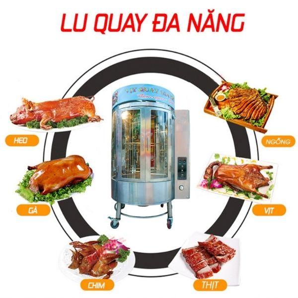 Lò quay vịt có kính giúp bảo quản thức ăn tốt hơn, an toàn vệ sinh