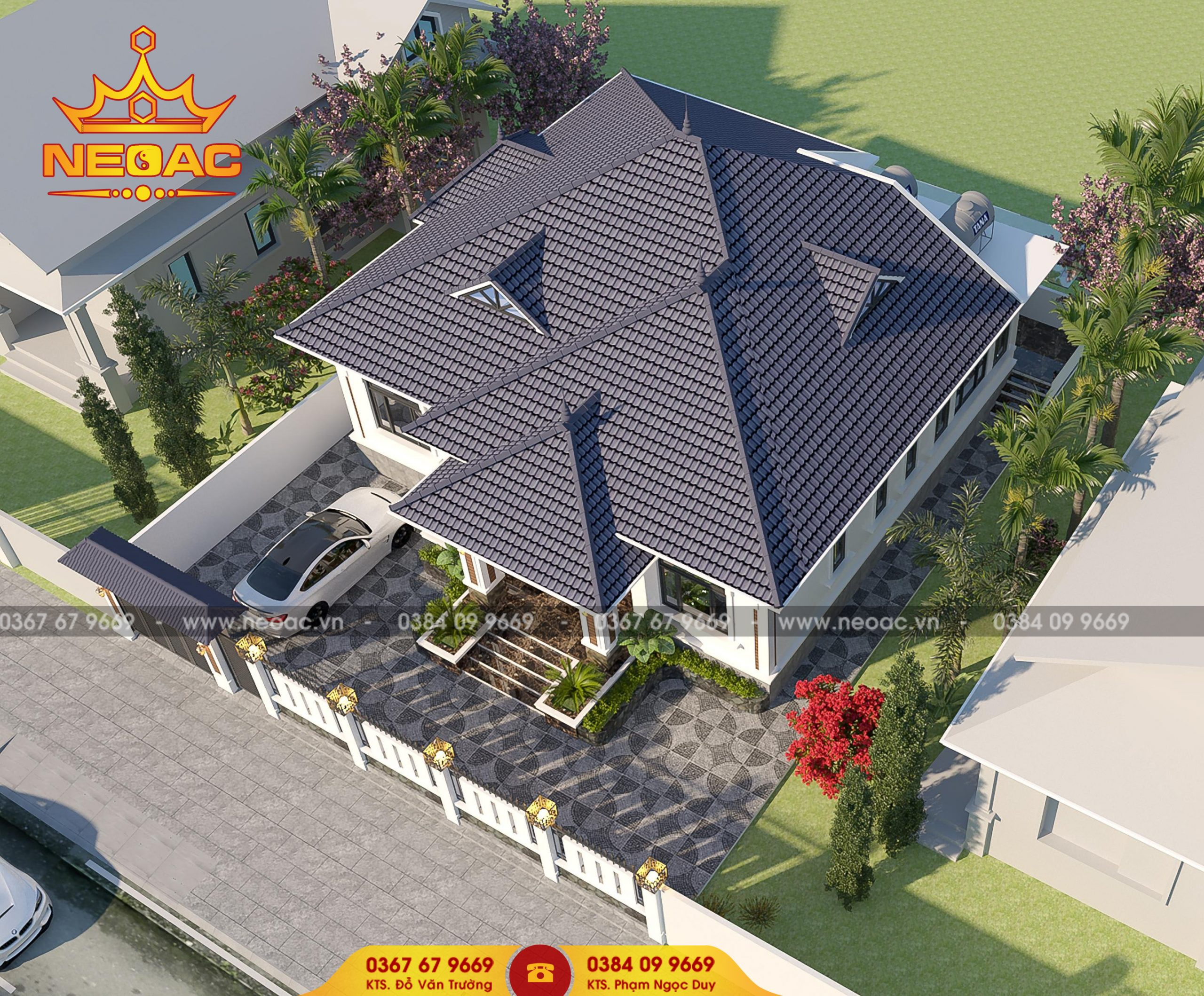 Mẫu thiết kế nhà phố 1 tầng 8x15m tại Vĩnh Phúc đẹp nao lòng