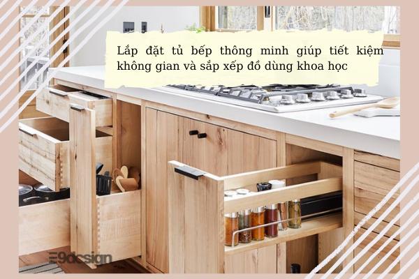 thiết kế tủ bếp thông minh cho chung cư