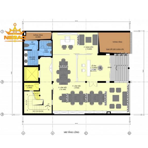 bản vẽ thiết kế nhà vừa ở kết hợp kinh doanh 3 tầng có gara
