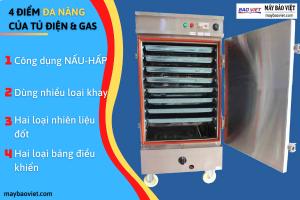 4 điểm Đa Năng của tủ nấu cơm dùng điện và gas