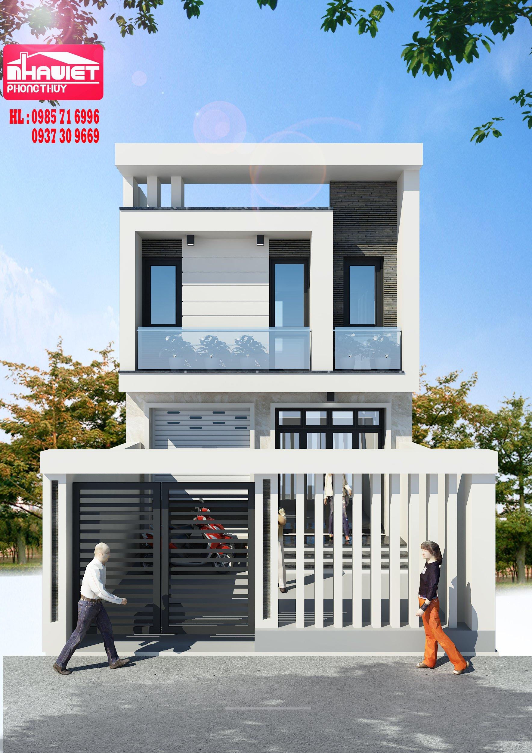 Thiết kế nhà 5mx11m 2 tầng của ông Đỗ Minh Hải – Bắc Giang