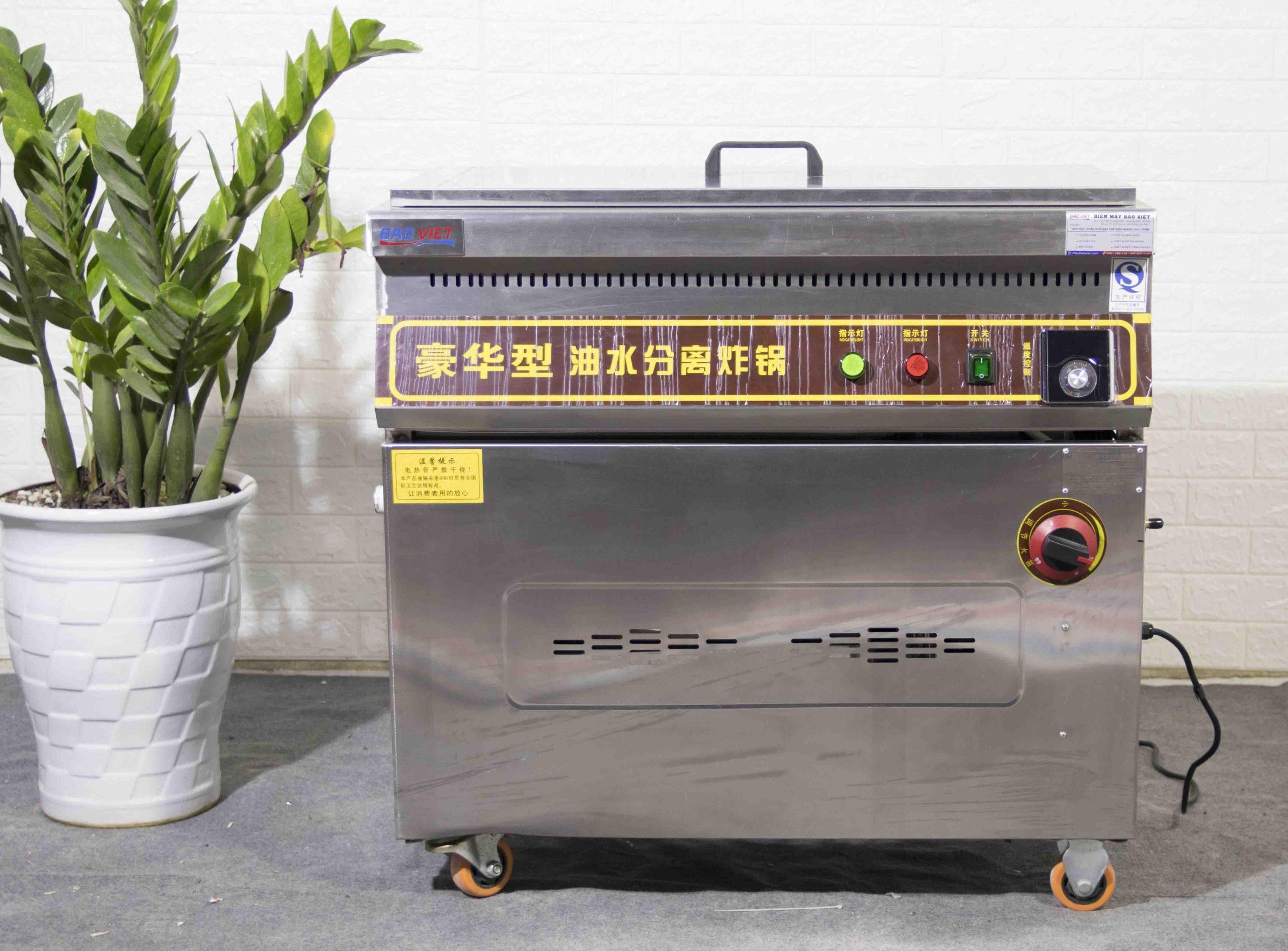 Bếp chiên tách dầu 35L dùng gas