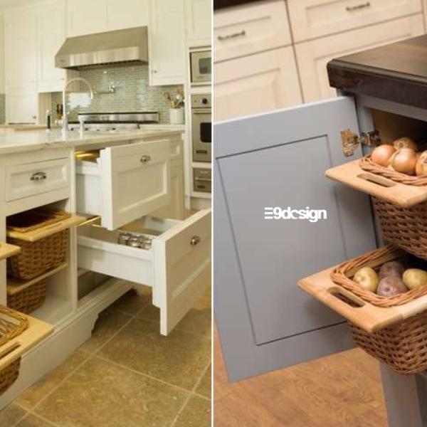 ý tưởng thiết kế tủ bếp thông minh