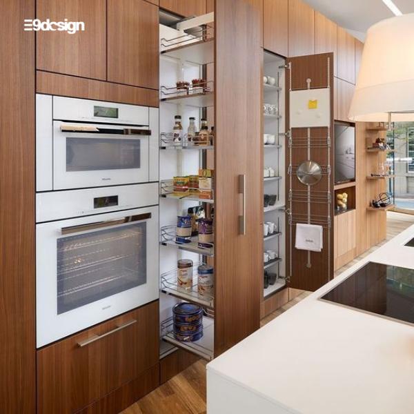 mẫu thiết kế tủ bếp thông minh E9Design