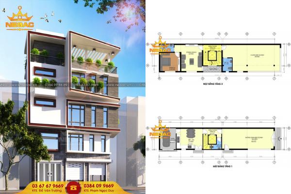 thiết kế nhà phố 5 tầng 30m2