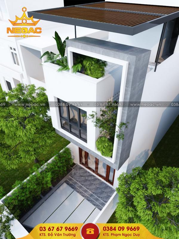 thiết kế nhà phố 2 tầng kết hợp kinh doanh