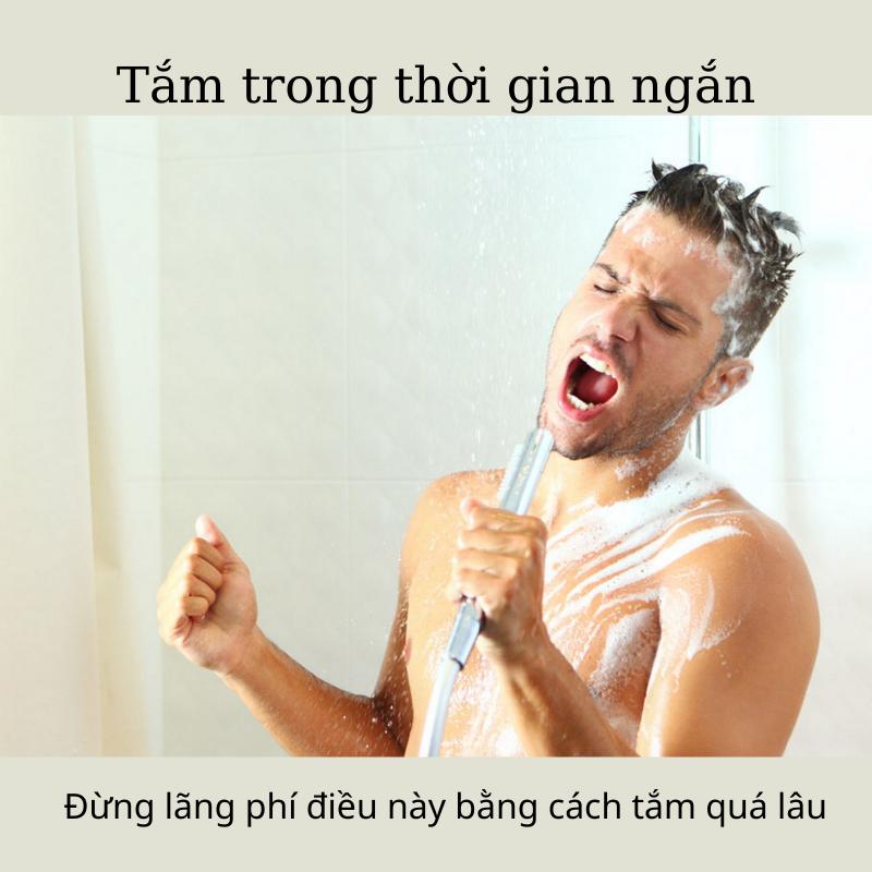 Sống khỏe sống xanh tiết kiệm khi tắm