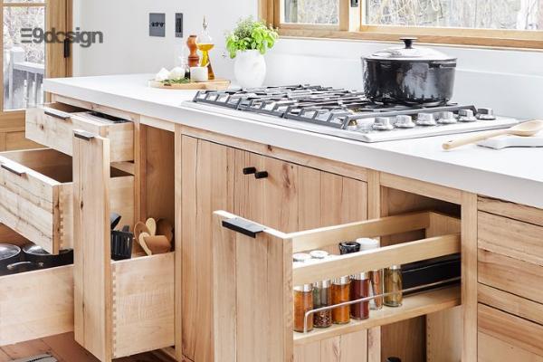 Thiết kế tủ bếp chung cư thông minh
