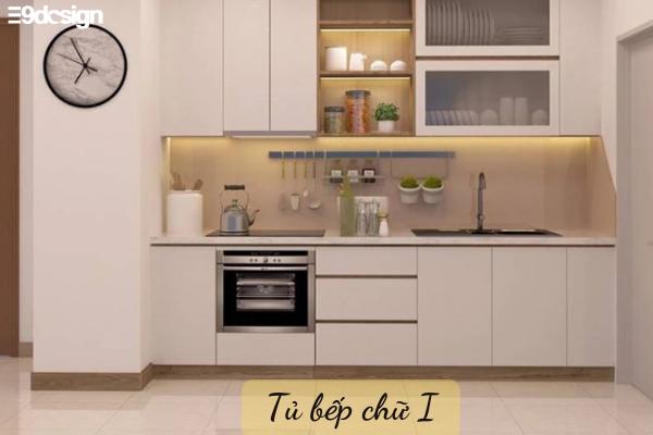 Kiểu dáng tủ bếp thẳng hình chữ I
