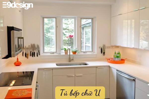 Kiểu dáng tủ bếp thẳng hình chữ U