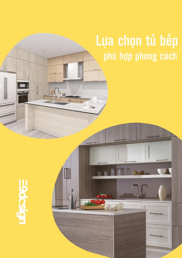 lựa chọn phong cách thiết kế tủ bếp biệt thự