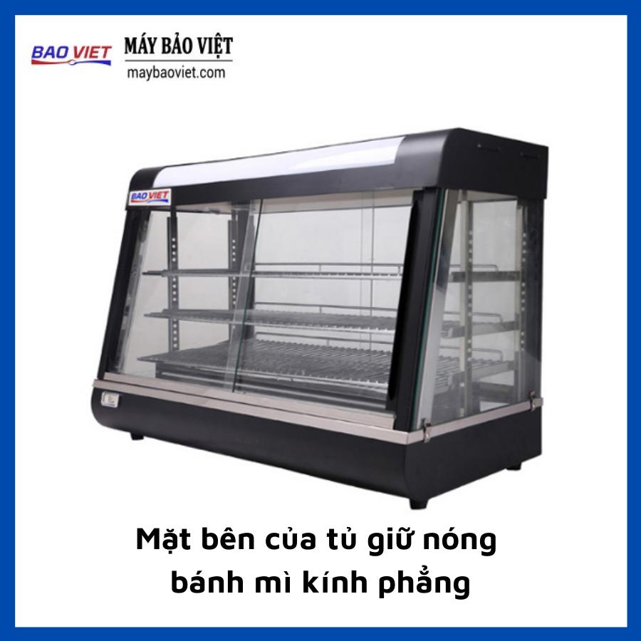 Mặt bên của tủ giữ nóng bánh mì kính phẳng