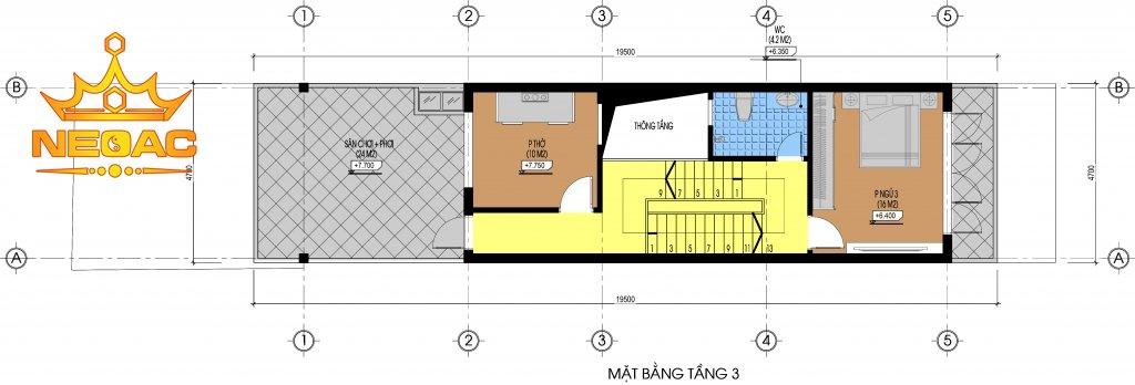 bản vẽ hiết kế nhà phố 2 tầng kết hợp kinh doanh