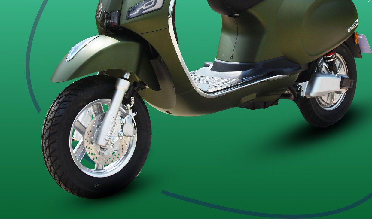 xe máy điện roma sx - hệ thống phanh an toàn