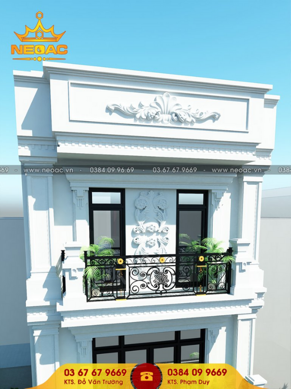 bản vẽ nhà phố vừa ở vừa kinh doanh 3 tầng mặt tiền 2m
