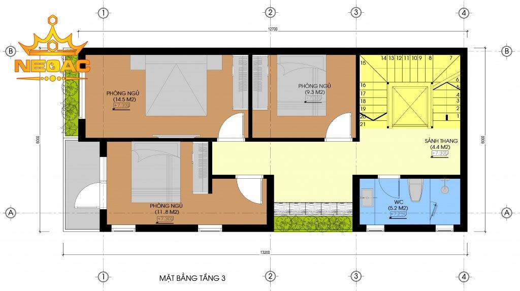 Thiết kế nhà 5x11m