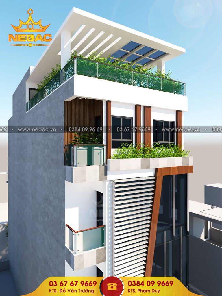Thiết kế nhà phố có tầng lửng