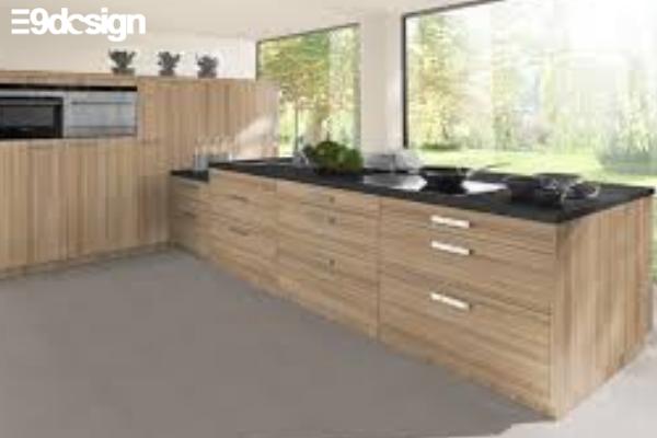 Thiết kế tủ bếp biệt thự phòng bếp từ gỗ MFC