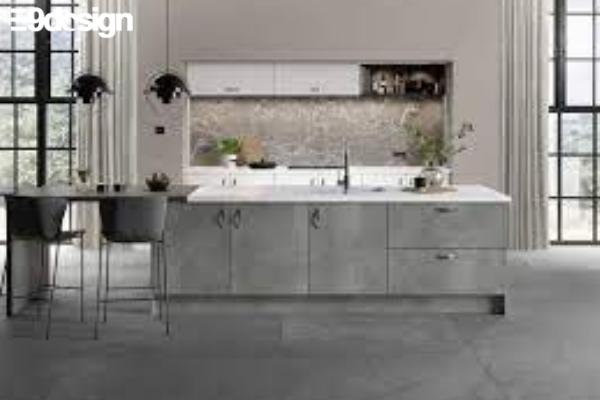 2.6. Thiết kế tủ bếp biệt thự phòng bếp từ gỗ MFC 4