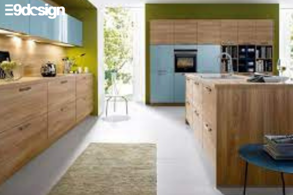 2.6. Thiết kế tủ bếp biệt thự phòng bếp từ gỗ MFC