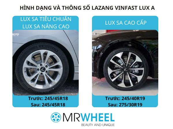 thông số Lazang Vinfast Lux A