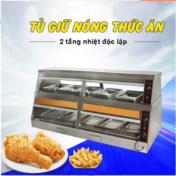 Tủ giữ nóng 2 tầng nhiệt độc lập DH-180