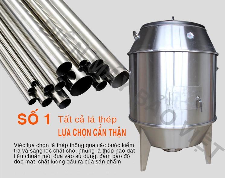 vật liệu của lò quay vịt bằng than inox