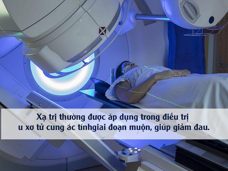 xạ trị điều trị u xơ tử cung ác tính
