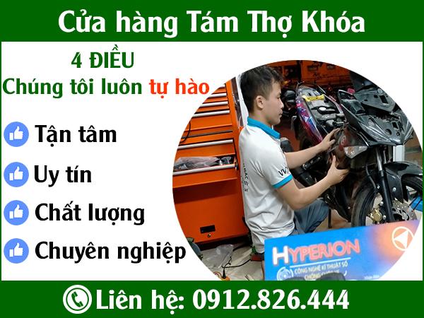 Cửa hàng Tám thợ khóa, chuyên lắp đặt chống trộm Smartkey hyperion